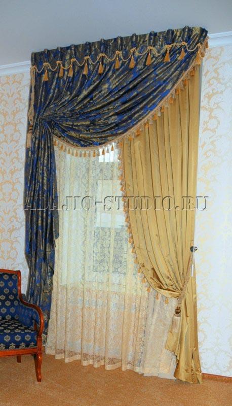 <b>Шторы</b> для гостиной - пошив штор на заказ