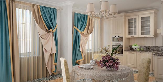 Модные шторы нити
