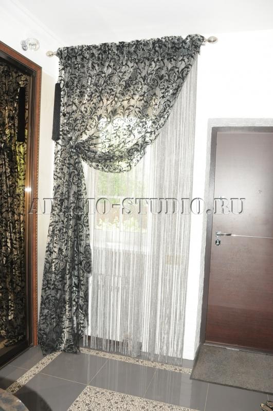 Занавески в коридор фото своими руками