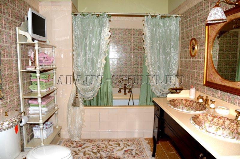 Шторка для ванной фото