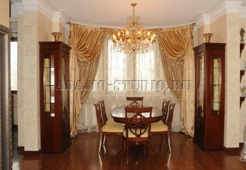 Шторы для гостиной №5776 фото